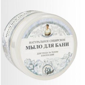 Мыло для бани «Белое мыло Агафьи» для ухода за телом и волосами Травы и сборы Агафьи для бани