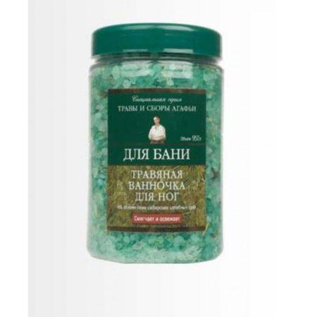 Соль для бани травяная ванночка для ног Травы и сборы Агафьи для бани