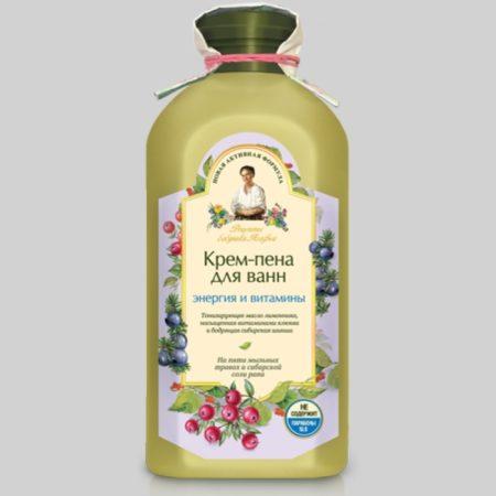 Крем-пена для ванн Энергия и витамины Новая активная формула
