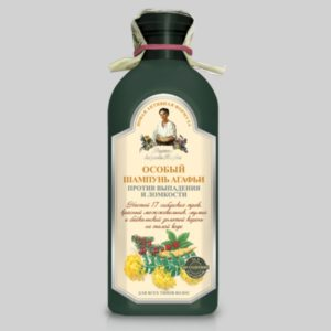 Особый шампунь Агафьи против выпадения и ломкости волос (темная бутылка) Новая активная формула