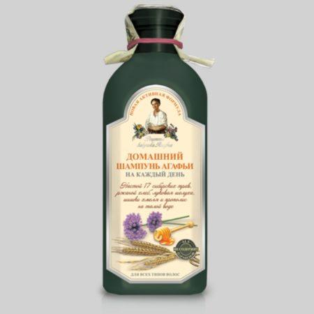 Домашний шампунь Агафьи на каждый день для всех типов волос (темная бутылка) Новая активная формула