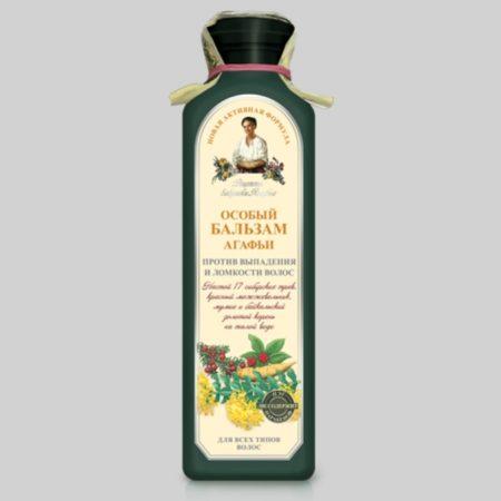 Особый бальзам Агафьи против выпадения и ломкости волос (темная бутылка) Новая активная формула