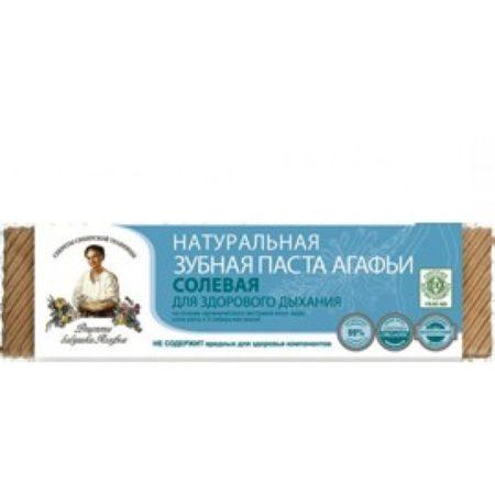 Натуральная зубная паста Агафьи «Солевая» для здорового дыхания