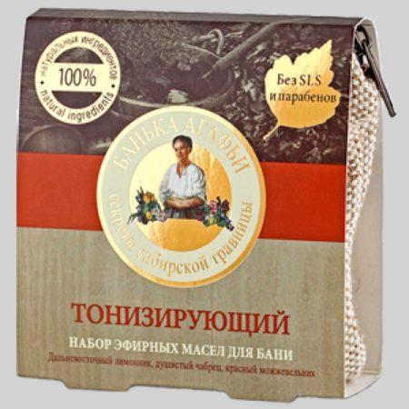 Набор эфирных масел для бани Тонизирующий Банька Агафьи