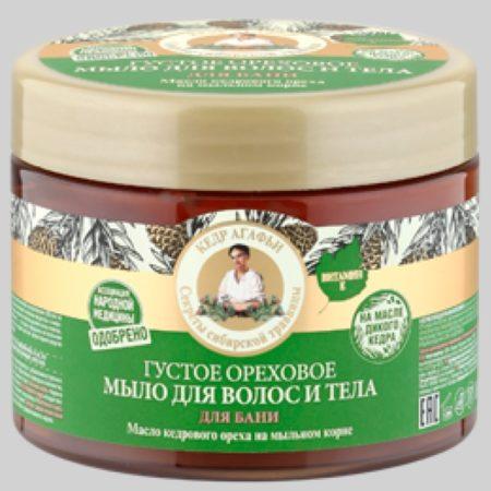 Густое ореховое мыло для волос и тела для бани Рецепты бабушки Агафьи на 5 соках