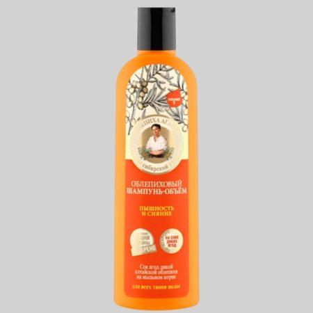 Облепиховый шампунь-объем «пышность и сияние» мини Рецепты бабушки Агафьи на 5 соках