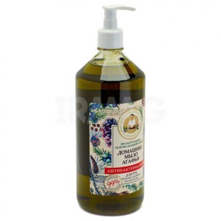 Мыло жидкое Рецепты бабушки Агафьи Домашнее Кедрово-можжевеловое Антибактериальное (1 л)