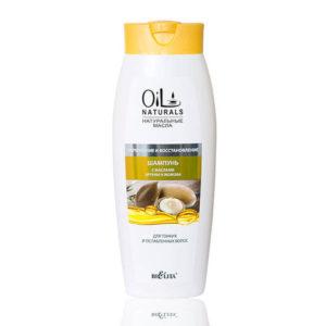 OIL Шампунь с маслами АРГАНЫ И ЖОЖОБА для тонких и ослабленных волос  Укрепление и Восстановление