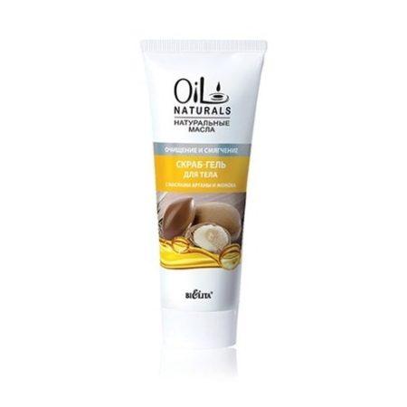 OIL Скраб-гель для тела с маслами АРГАНЫ и ЖОЖОБА Очищение и смягчение  200мл.