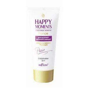 Happy moments Дезодорант-антиперспирант сухой крем Романтическая Франция 50мл.