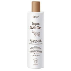 Milk line Протеины молодости Крем гель для душа 400мл.