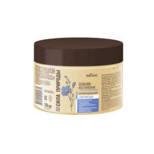Сила природы Бальзам восстанавливающий с маслом льна для поврежденных волос с антистатическим эффектом 380мл.