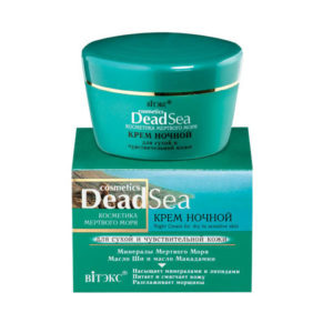 Косметика Мертвого моря Крем ночной для сухой и чувствительной кожи 45мл.
