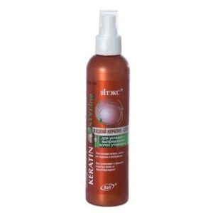 Keratin STYLing Жидкий спрей для укладки и выпрямления волос утюжками 200мл.