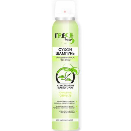Fresh Hair СУХОЙ шампунь с экстрактом зеленого чая  200мл.