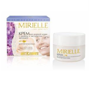 MIRIELLE Крем для жирной кожи с цинком и экстрактом дрожжей 48г
