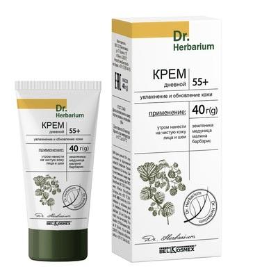 Dr.Herbarium Крем дневной 55+ увлажнение и обновление кожи 40г