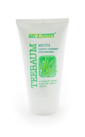 TEEBAUM Маска глубокое очищение успокаивющая с зеленой глиной 100г