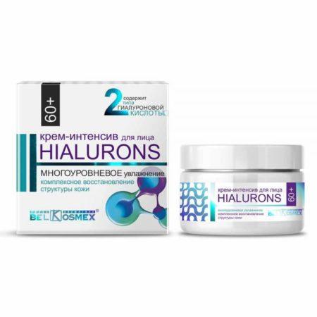 Hialurons Крем-интенсив для лица 60+ многоуровневое увлажнение и комплексное восстановление структуры кожи